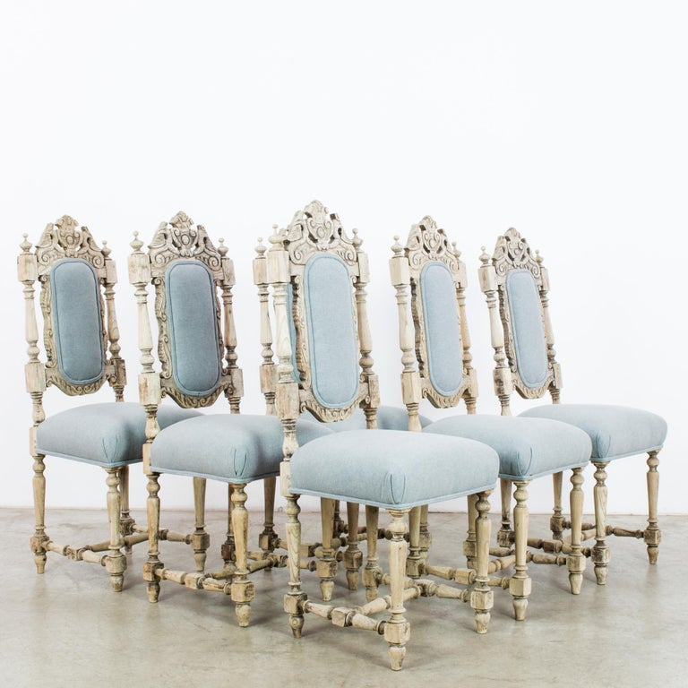 Antique French Provincial Dining Chairs, Set of Six For Sale 6