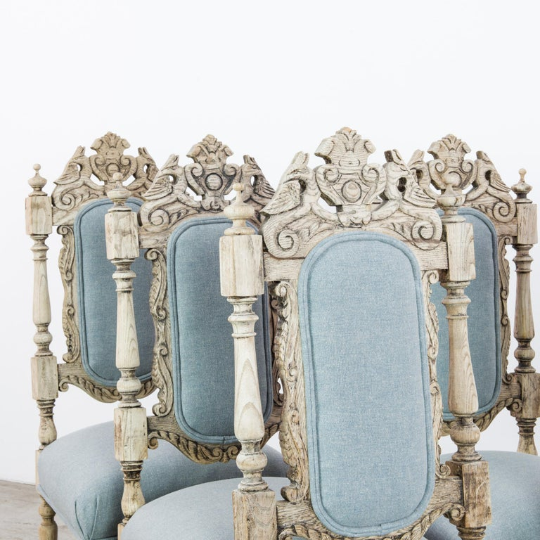 Antique French Provincial Dining Chairs, Set of Six For Sale 7