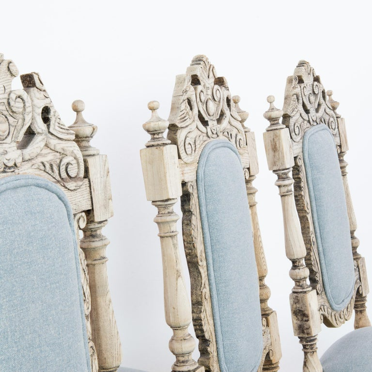 Antique French Provincial Dining Chairs, Set of Six For Sale 8
