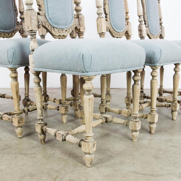 Antique French Provincial Dining Chairs, Set of Six For Sale 11