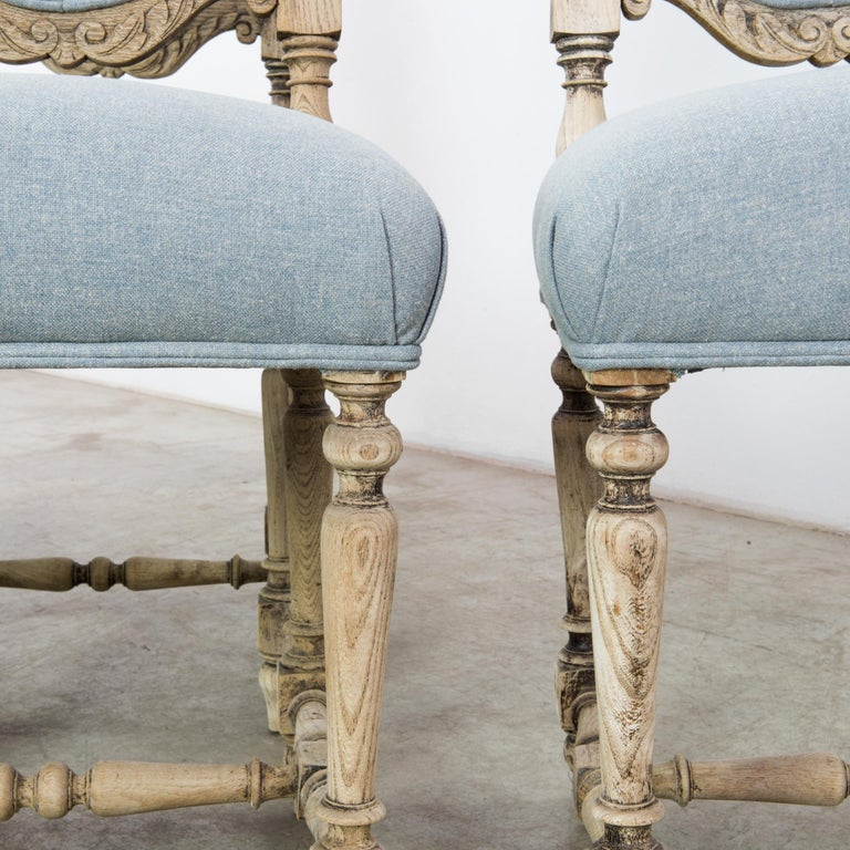 Antique French Provincial Dining Chairs, Set of Six In Good Condition For Sale In High Point, NC