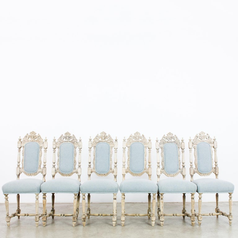 Antique French Provincial Dining Chairs, Set of Six For Sale 1