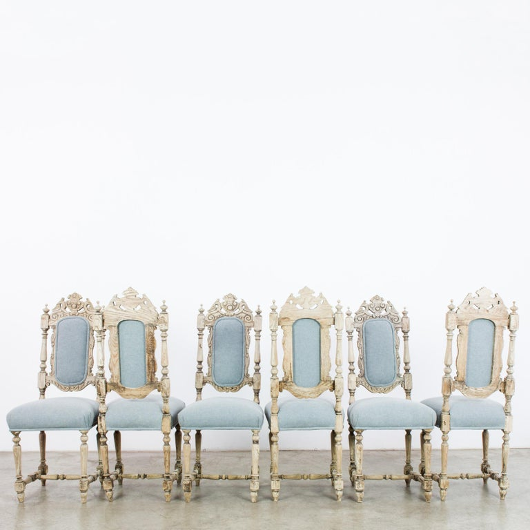 Antique French Provincial Dining Chairs, Set of Six For Sale 2