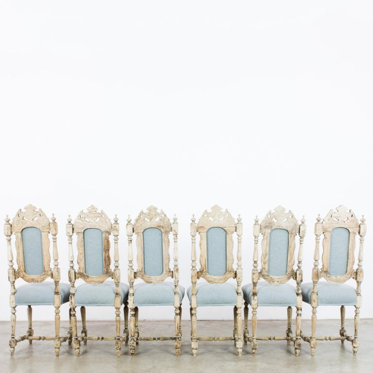 Antique French Provincial Dining Chairs, Set of Six For Sale 3