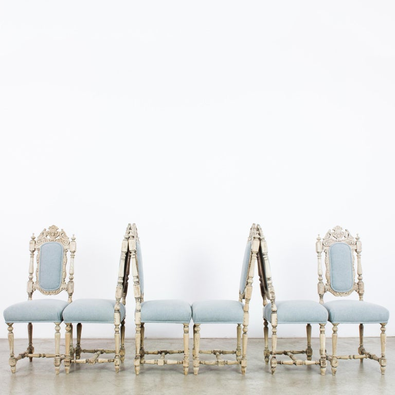 Antique French Provincial Dining Chairs, Set of Six For Sale 4