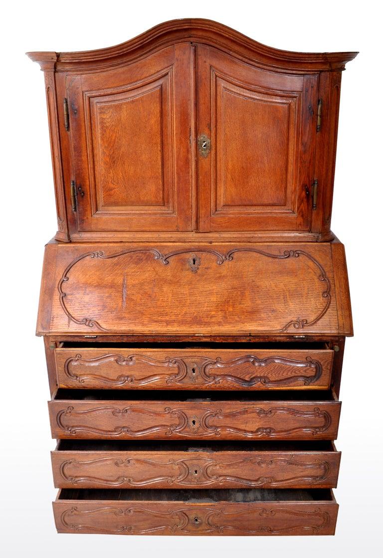 Antique French Provincial Oak Secretary/Bureau Bookcase, circa 1770 For Sale 7