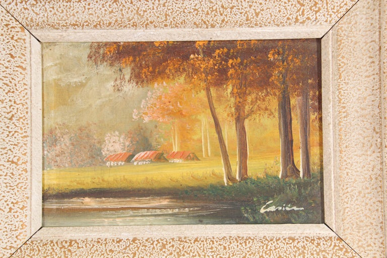 Antique French Provincial Oil on Canvas Painting For Sale 5