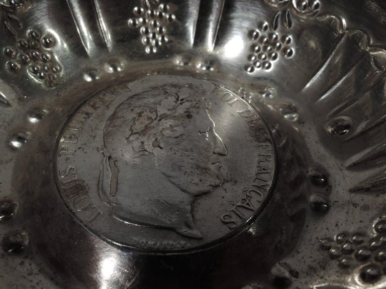 20th Century Antique French Provincial Silver Tastevin by Dijon Maker For Sale