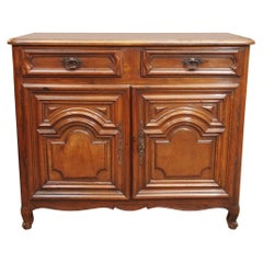 Antique French Provincial Small Walnut Cabinet, circa 1850-1870