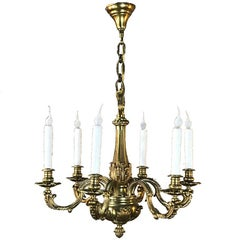 Antique French Regence Bronze Chandelier