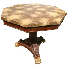 Antique French Regency Style Mahogany Centre Table