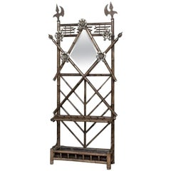 Antique French Renaissance Faux Bamboo Hall Tree
