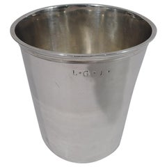 Antique French Restauration Silver Beaker by Theodor Tonnelier