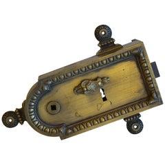 Antique French Rim Lock
