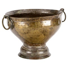 Antique French Ring Handle Copper Urn, circa 1860