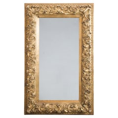 Antique French Rococo Gilded Wooden Mirror