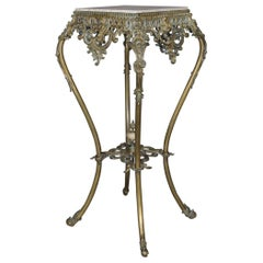 Antique French Rococo Gilt Bronze and Marble Plant Stand, circa 1890