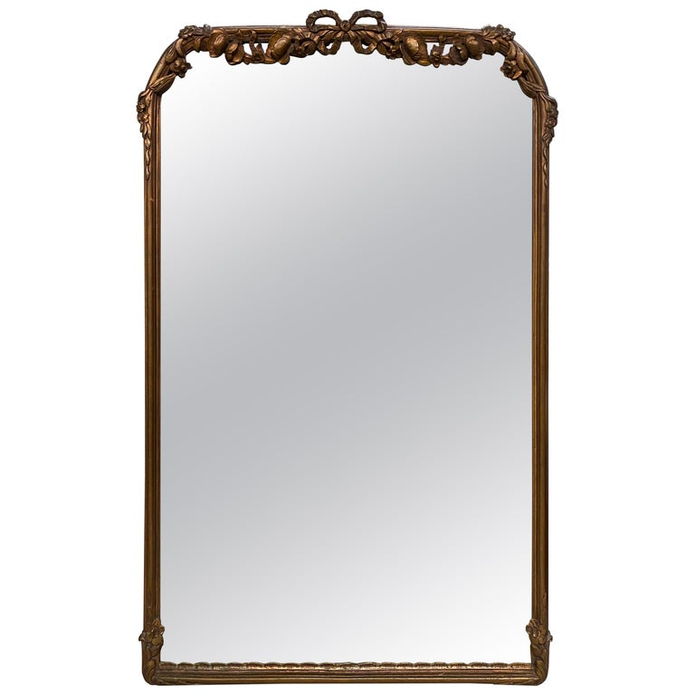 Antique French Rococo Style Mirror For Sale