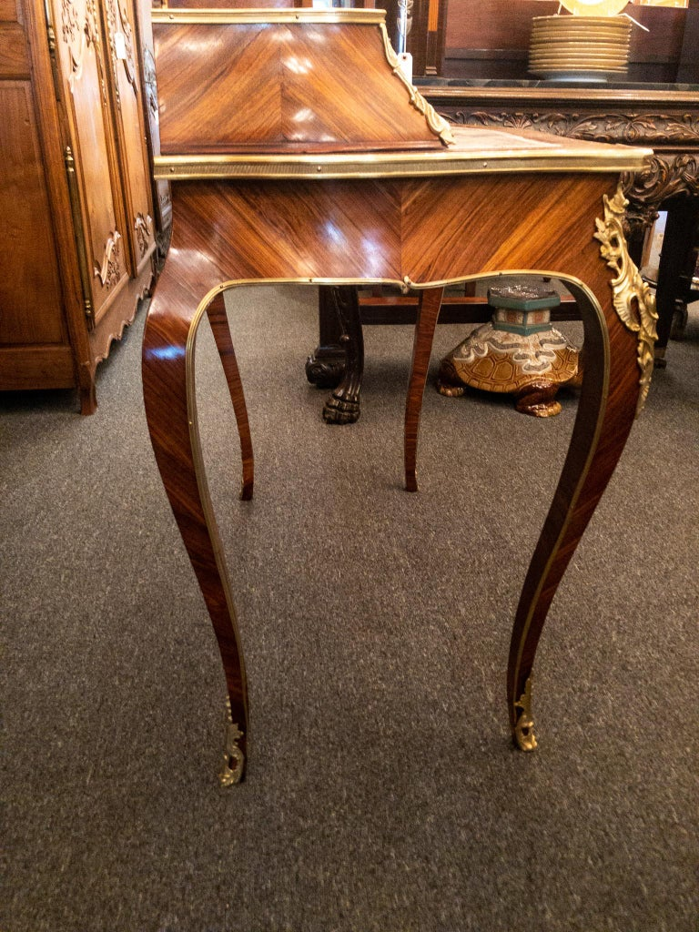 Antique French Rosewood and Gold Bronze Writing Desk, circa 1880-1890 For Sale 5