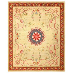 Antique French Rug. Size: 12 ft 5 in x 15 ft 6 in (3.78 m x 4.72 m)