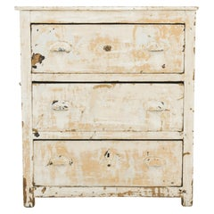 Antique French Rustic Patinated Drawer Chest