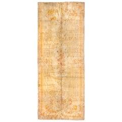 Antique French Savonnerie Carpet, Louis XVI Style, Gold, circa 1900s