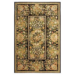 Antique French Savonnerie Handwoven Wool Rug