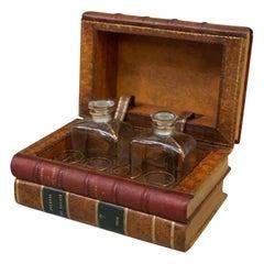 Antique French Secret Book Liquor Cabinet