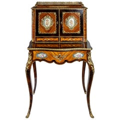 Antique French Secretaire with Sèvres Porcelain