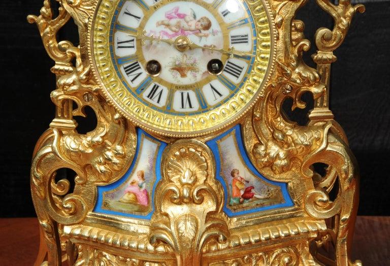 Antique French Sevres Porcelain and Gilt Bronze Clock 7
