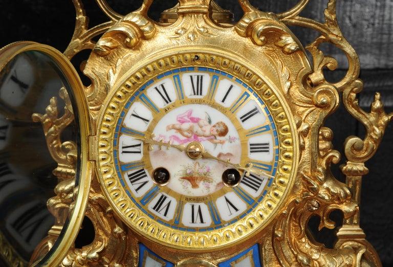 Antique French Sevres Porcelain and Gilt Bronze Clock 8