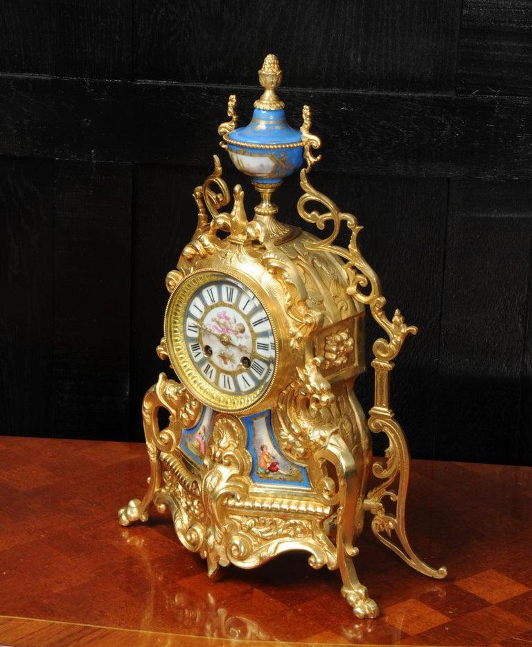 Antique French Sevres Porcelain and Gilt Bronze Clock 1