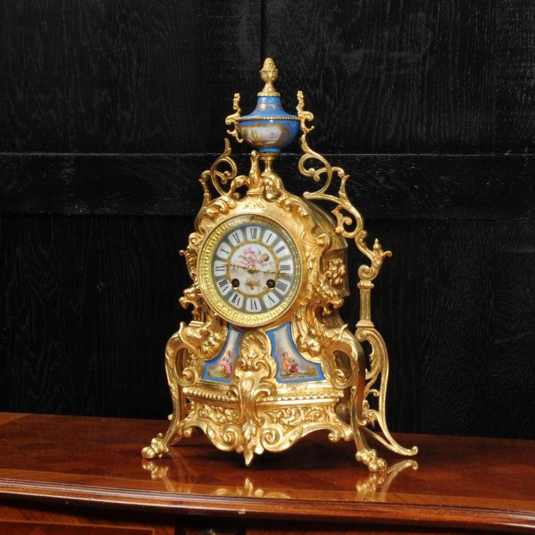 Antique French Sevres Porcelain and Gilt Bronze Clock 2