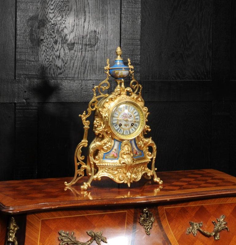 Antique French Sevres Porcelain and Gilt Bronze Clock 4