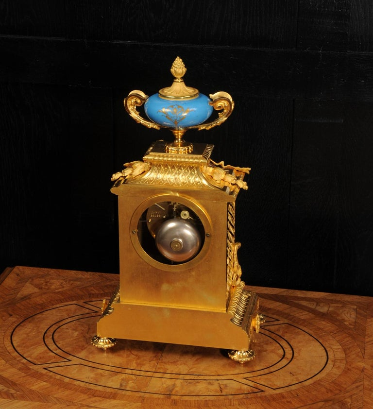 Antique French Sevres Porcelain and Ormolu Clock For Sale 10