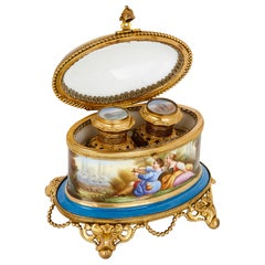 Antique French Sevres Style Porcelain Perfume Box