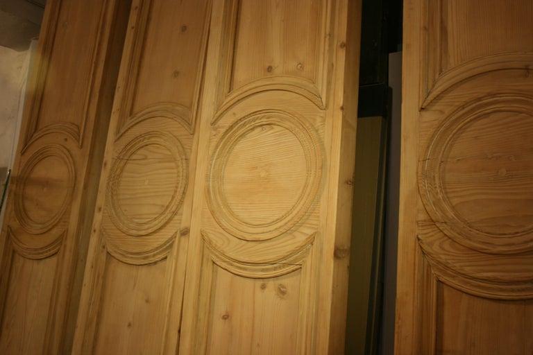 Antique French Shop Facade Panel, Made of Pine, Paris, circa 1900 For Sale 2