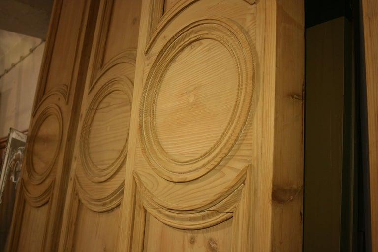Antique French Shop Facade Panel, Made of Pine, Paris, circa 1900 For Sale 3