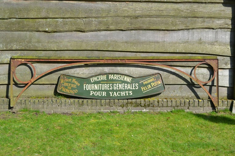 Antique French Shop Sign For Yacht Supplies And Provision