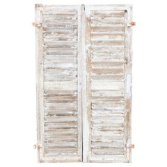 Antique French Shutters, a Pair