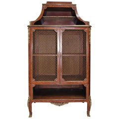 Antique French Side Cabinet / Bookcase