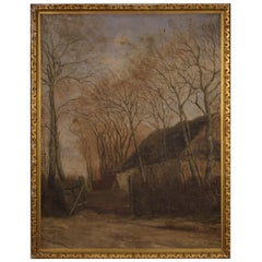 Antique French Signed Landscape Painting from the 19th Century