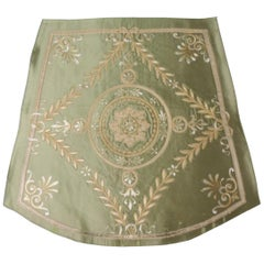 Antique French Silk Applique Seat Cover