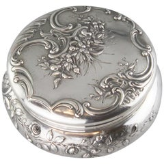 Antique French Silver 19th Century Tea Caddy
