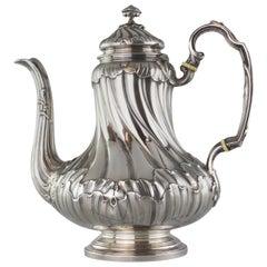 Antique French Silver 19th Century Tea Pot