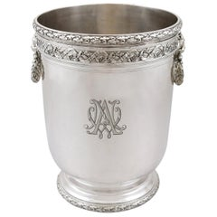 Antique French Silver Wine Cooler, circa 1910