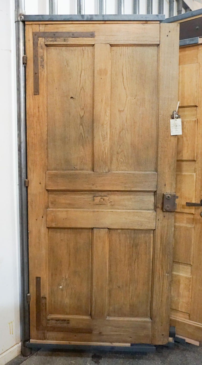 Hand-Carved Antique French Single Door, circa 1860 For Sale