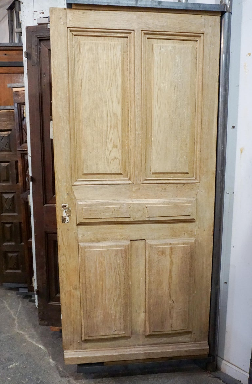 Oak Antique French Single Door, circa 1860 For Sale