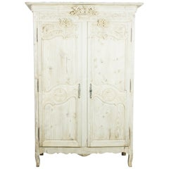 Antique French Softwoo Armoire