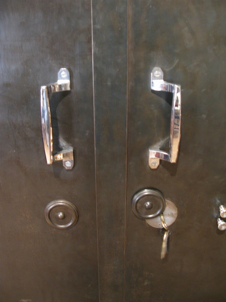 Antique French Steel Safe Cabinet For Sale 2